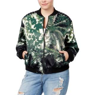 Rachel Rachel Roy Womens Plus Bomber Jacket Printed Long Sleeves - 0X