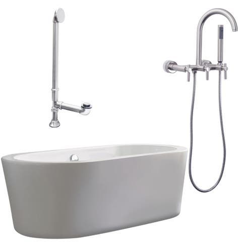 "Giagni LV1 Ventura 67"" Free Standing Soaking Tub Package -"