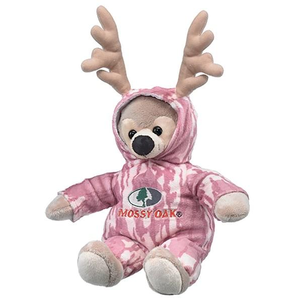 Legendary Whitetails Kid's Mossy Oak Pink Camo'd Up Deer Stuffed Animal - mossy oak