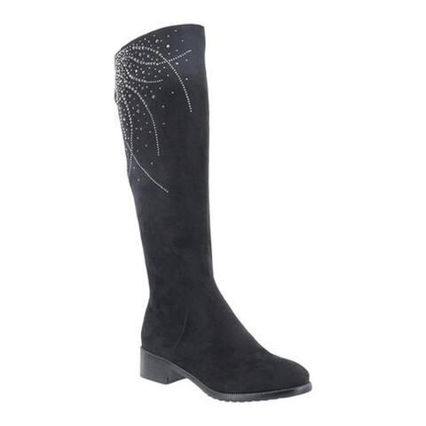 Azura Women's Aishaberry Knee High Boot Black Microsuede