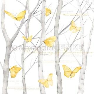 """Butterfly In Birch Forest International - Alexandra Renke Butterfly Paper 12""""X12"""" (25/Pack)"""