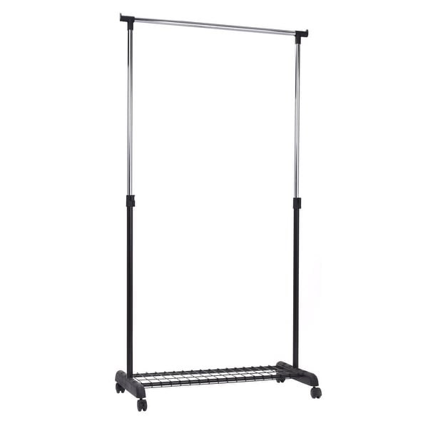 Shop Adjustable Rolling Garment Rack Heavy Duty Clothes