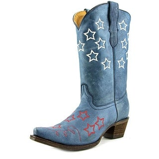 Corral E1153 Youth Pointed Toe Leather Blue Western Boot