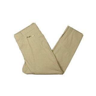 Rafaella Womens Plus Ankle Pants Comfort Fit Pull On