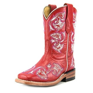 Corral G1095 Toddler EW Square Toe Leather Red Western Boot