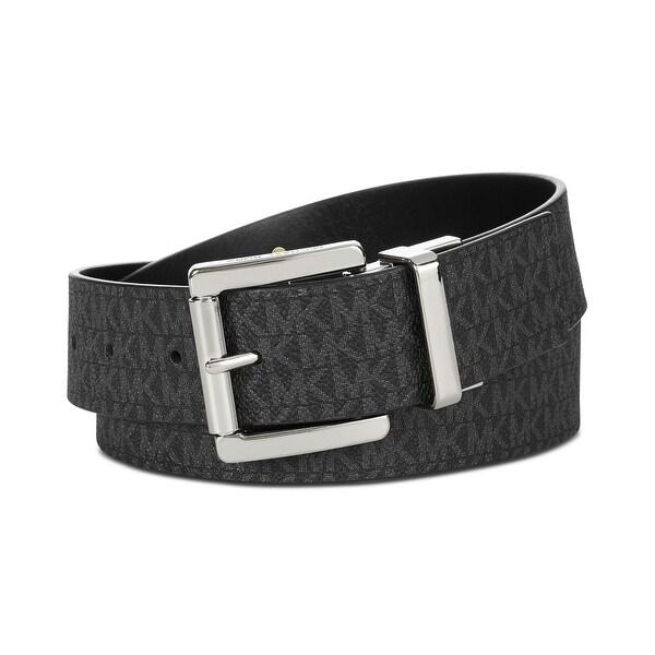 Michael Kors Women's 38MM Reversible Signature Leather Logo Belt Black 553119