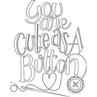 Cute As A Button - Spellbinders Stamps
