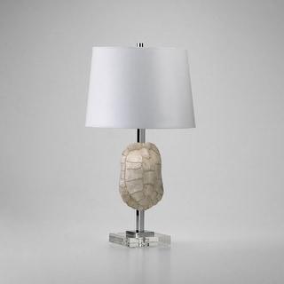 "Cyan Design 4105 26"" Tortoise Shell Table Lamp - white / chrome / crystal"