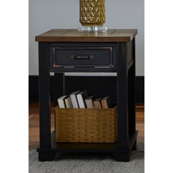 Shop Solid Wood Rectangular End Table - Overstock - 28743279