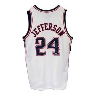 Richard Jefferson New Jersey Nets Autographed White Adidas Jersey