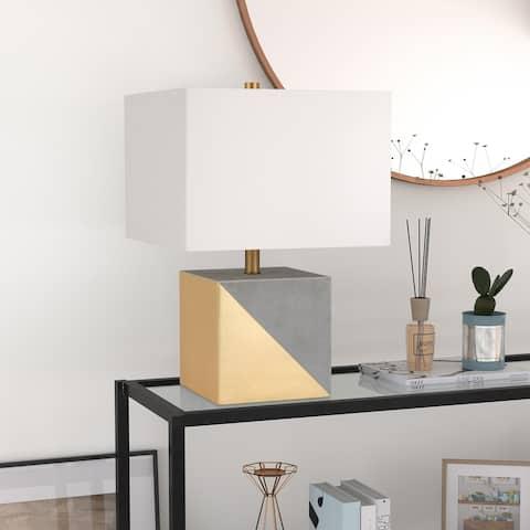 Carson Carrington Saitaniemi Gold Dipped Concrete Table Lamp
