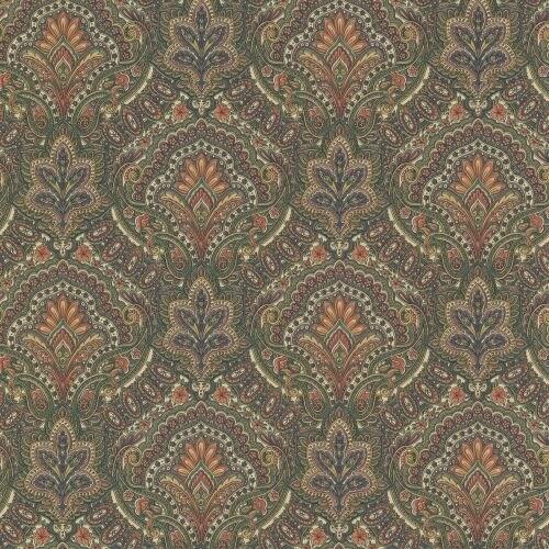 Brewster 2604-21220 Cypress Sage Paisley Damask Wallpaper