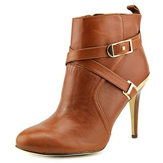 Marc Fisher Aprille Round Toe Leather Ankle Boot