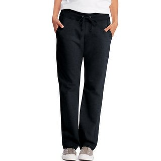 Hanes Women's French Terry Pocket Pant - Size - L - Color - Black
