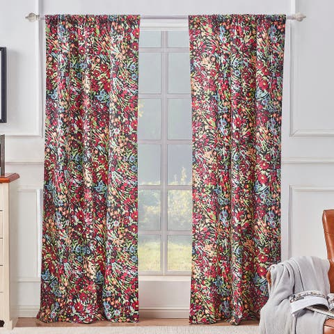 Barefoot Bungalow Alice Curtain Panel Pair - 84 x 84 inches