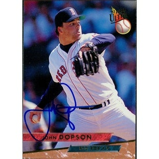 Signed Dopson John Boston Red Sox 1993 Fleer Baseball Card autographed