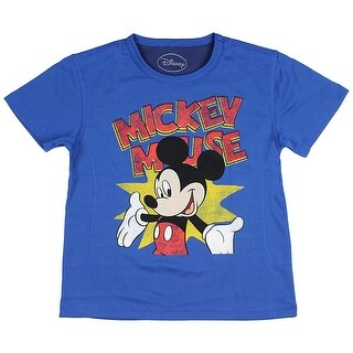 Disney Boys' Mickey Mouse Classic Pose Poly Mesh T-Shirt