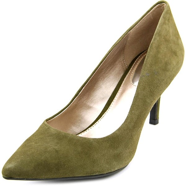 Alfani Jeules Women Pointed Toe Suede Green Heels