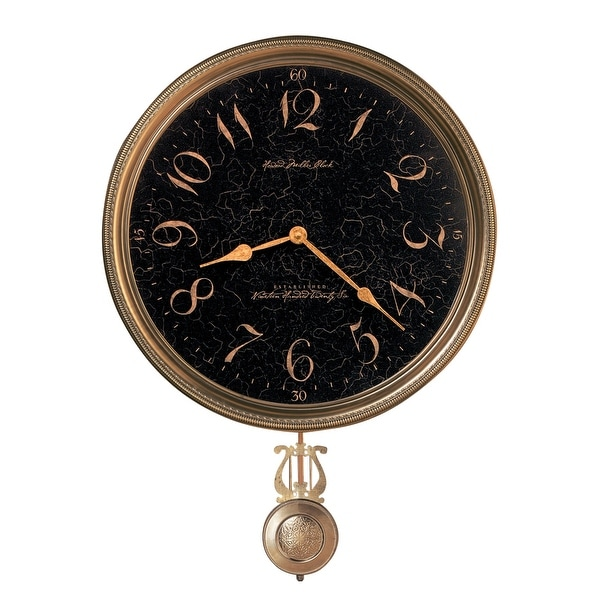 Howard Miller Paris Night Elegant, Vintage, Glam Style Distressed Wall Clock with Pendulum. Opens flyout.