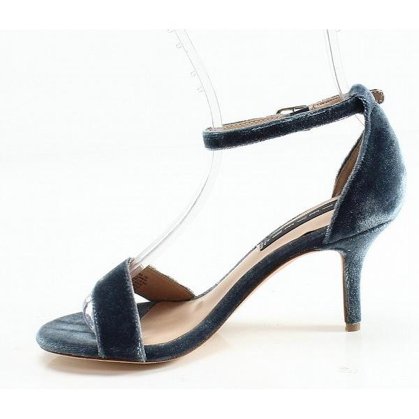Steve Madden Blue Velvet Vienna Women's Size 7M Open Toe Pumps