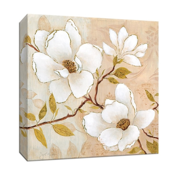 """PTM Images 9-146952 PTM Canvas Collection 12"""" x 12"""" - """"Golden Dogwood II"""" Giclee Flowers Art Print on Canvas"""