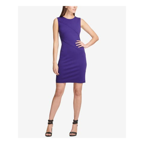 DKNY Purple Sleeveless Above The Knee Sheath Dress Size 6