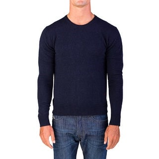Valentino Men's Crew Neck Sweater Dark Navy Blue