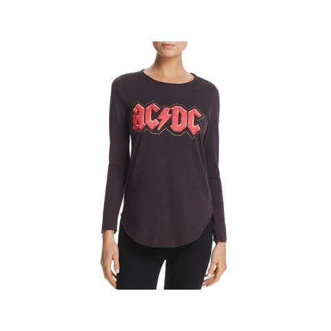Chaser Womens Graphic T-Shirt Studded Graphic