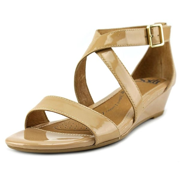 Sofft Innis Women Open Toe Synthetic Tan Wedge Sandal