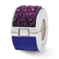 Sterling Silver Reflections Purple Swarovski Elements Bead (4mm Diameter Hole)