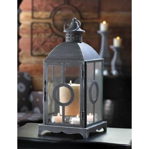 Charming Antique Distressed Grey Lantern