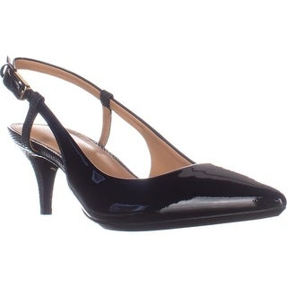 Calvin Klein Patsi Slingback Pointed Toe Pumps, Black