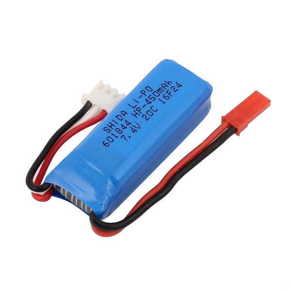 DC 7.4V 450mAh Rechargable Lithium Battery Pack for RC Aircraft Blue