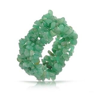Bling Jewelry Green Aventurine Chips Chunky Stretch Bracelet