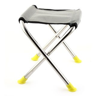 Unique Bargains Outdoor Camping Travel 4 Foot Portable Fishing Chair Foldable Angling Stool Seat
