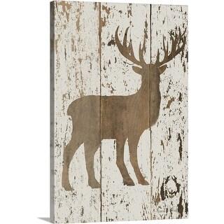 """""""Deer in Reverse"""" Canvas Wall Art"""