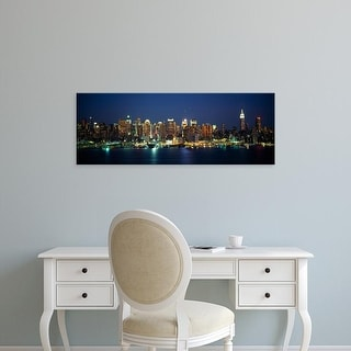 Easy Art Prints Panoramic Image 'Buildings at the waterfront, Manhattan, New York City, New York State' Canvas Art