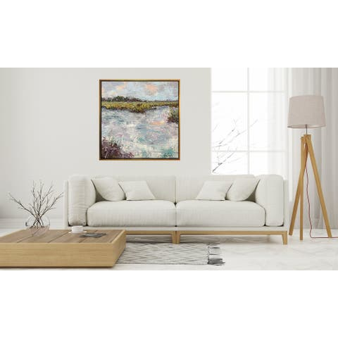 """John Beard Collection's """"Coral Coast"""" on Giclee Canvas Hand Embellished Art"""