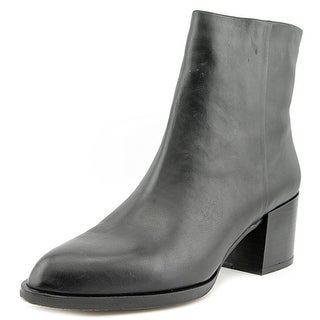 36b9b5a926f885 Shop Sam Edelman Joey Women Round Toe Leather Black Ankle Boot - Free  Shipping Today - Overstock.com - 15273178
