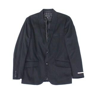 INC NEW Deep Black Mens Size Small S Two Button Truman Suit Blazer