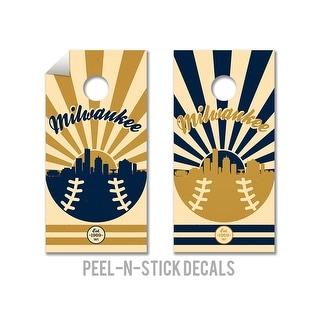 Milwaukee Brewers Cornhole Board Decals