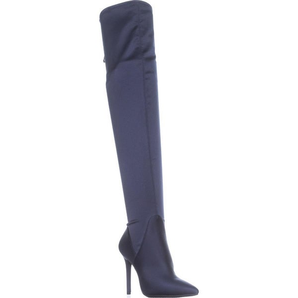 Jessica Simpson Lessy Over-The-Knee Pull On Boots, Midnight - 7 us / 37 eu