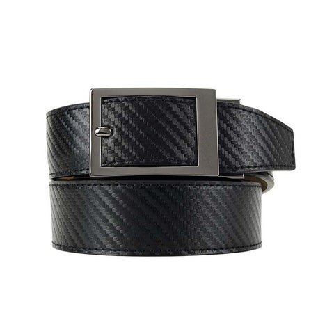 Nexbelt Classic Series Black Carbon Leather Strap Dress Belt