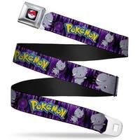 Pok Ball Full Color Black Pokmon Espurr Poses Vertical Stripe Black Seatbelt Belt