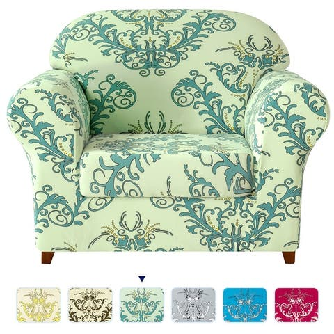 Subrtex Stretch Printed Floral Washable Sofa Slipcover