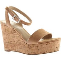 Charles by Charles David Women's Lilla Wedge Sandal Nude Suede