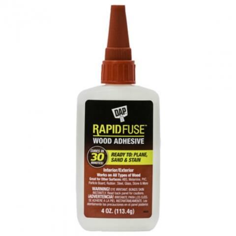 DAP 00157 RapidFuse Fast-Curing Wood Adhesive, 4 Oz