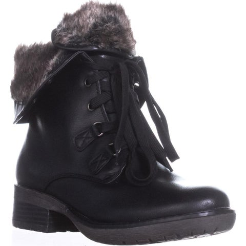 BareTraps Henriette Lace-Up Combat Boots, Black
