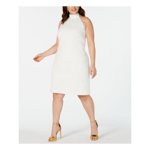 TEEZE ME White Sleeveless Knee Length Sheath Dress Size 22