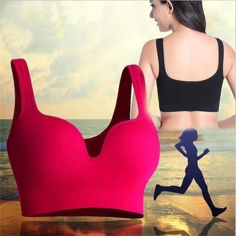 Yoga Sports Underwear Vest Breathable Bra Push Up Bras Bralette Top Camisole Shapewear Ring-